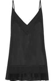 Cara chiffon-trimmed georgette camisole