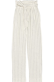 Ginas striped cotton-terry wide-leg pants