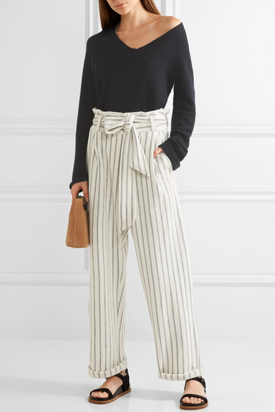 Malene Birger stripe wide leg trousers