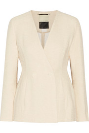 By Malene Birger Double-breasted cotton-blend tweed blazer
