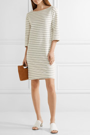 Striped cotton-terry dress