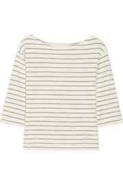 Tirans striped cotton-terry top