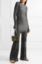 By Malene Birger Aliasi metallic ribbed-knit sweater