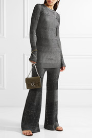 By Malene Birger Loveli metallic ribbed-knit flared pants
