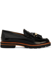 Manila glossed-leather loafers