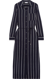 Splendid Rope striped voile midi dress