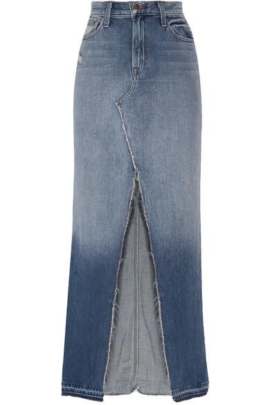 a291e00f49 J Brand | Trystan distressed denim maxi skirt | NET-A-PORTER.COM