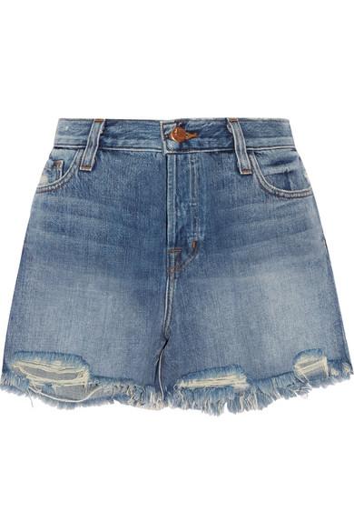 J Brand | Ivy distressed denim shorts | NET-A-PORTER.COM