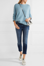 J Brand Sadey cropped distressed slim boyfriend jeans