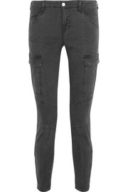 J Brand Houlihan cropped stretch-cotton twill skinny pants