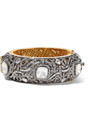 18-karat gold, silver and diamond bracelet