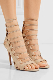 Amazon lace-up suede sandals
