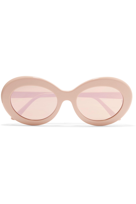 Sunday Somewhere Kurt oval-frame acetate mirrored sunglasses
