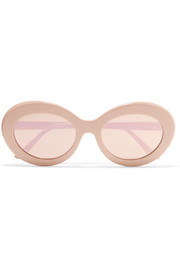 Kurt oval-frame acetate mirrored sunglasses