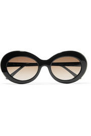 Kurt oval-frame acetate sunglasses