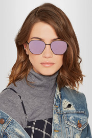 Ottoman square-frame metal mirrored sunglasses