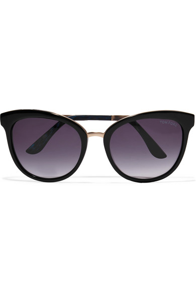 e90143d4a57 TOM FORD. Cat-eye acetate and gold-tone sunglasses