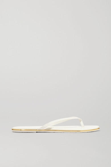 tkees female tkees lily patentleather flip flops white