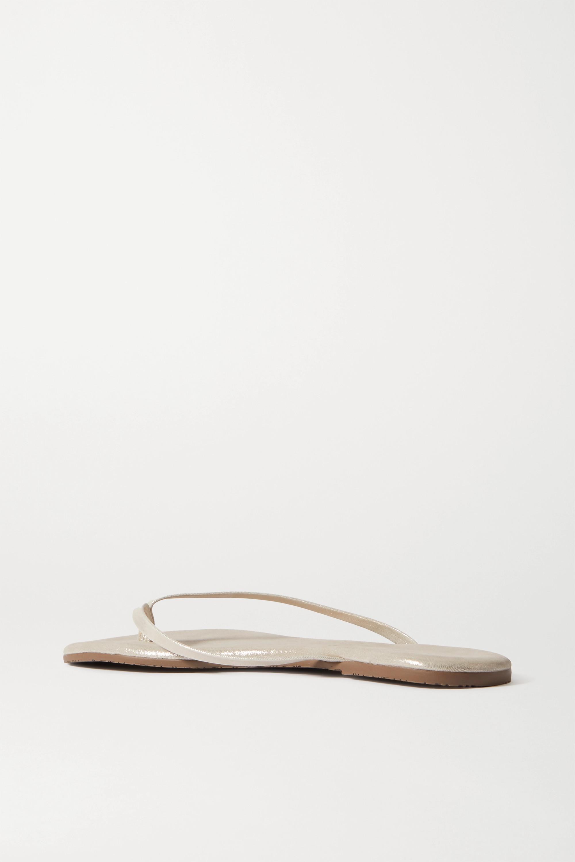TKEES Lily metallic suede flip flops