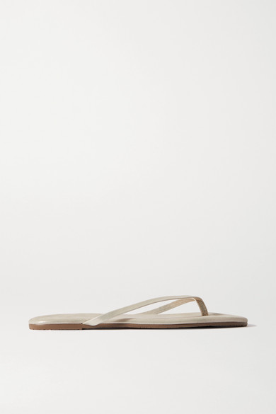 9a73ef24d TKEES. Lily metallic suede flip flops