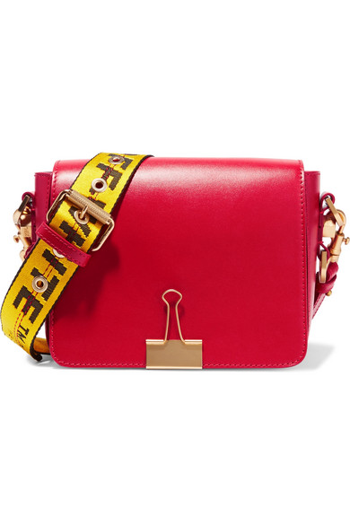 Off-White - Leather Shoulder Bag - Red
