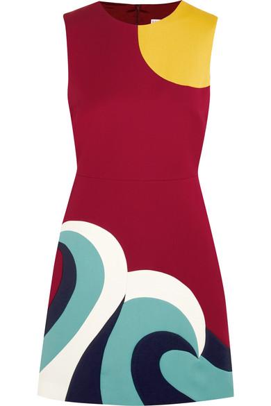 REDValentino - Paneled Cotton-cady Mini Dress - IT36