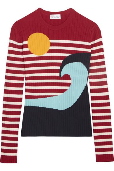 REDValentino - Intarsia Ribbed-knit Sweater - xx small