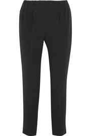 Crepe tapered pants