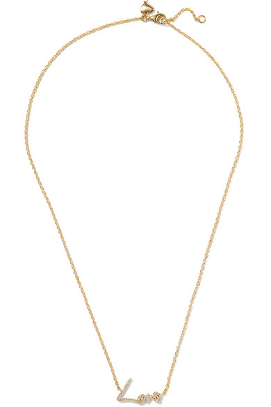 STEPHEN WEBSTER 'Neon Love' Diamond 18K Yellow Gold Pendant Necklace