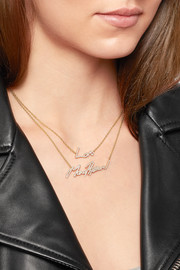+ Tracey Emin More Passion 18-karat gold diamond necklace