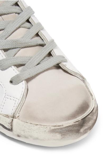 Golden Goose Deluxe Brand Superstar Sneakers aus Leder und Veloursleder in Distressed-Optik