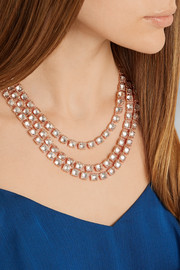 Larkspur & Hawk Antoinette Rivière rose gold-dipped topaz necklace
