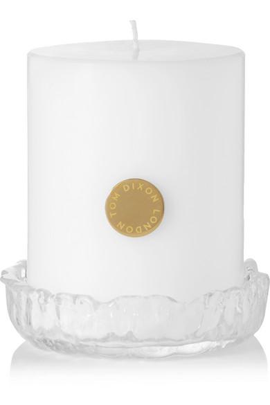 TOM DIXON Quartz Pillar Candle Set, 880G in Colorless