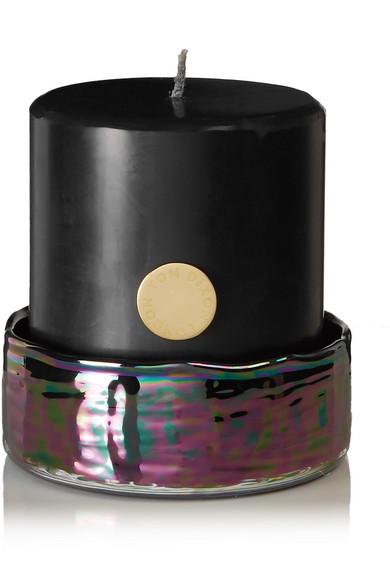 TOM DIXON Oil Pillar Candle Set, 880G in Black
