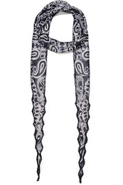 Chan Luu Beaded printed georgette scarf