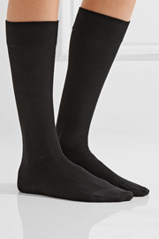 Stretch-knit knee socks