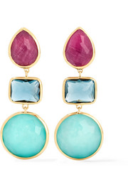 Rock Candy® 18-karat gold multi-stone earrings