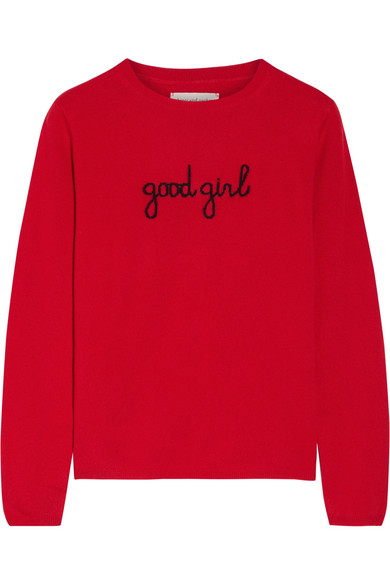 Chinti and Parker - Intarsia Cashmere Sweater - Red