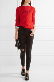 Chinti and Parker Intarsia cashmere sweater