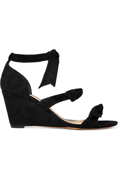 alexandre birman female alexandre birman lolita anabela bowembellished suede wedge sandals black