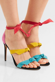 Lolita bow-embellished suede sandals