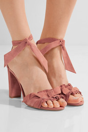 Lupita ruffle-trimmed suede sandals