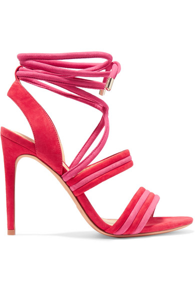 Alexandre Birman - Aurora Suede Sandals - Red