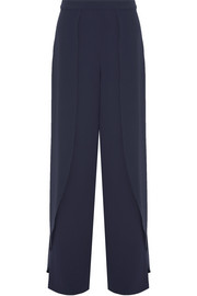 Larissa draped crepe wide-leg pants
