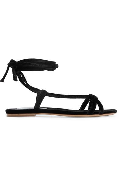 Gabriela Hearst - Velvet Sandals - Black