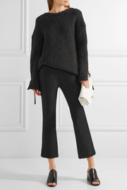 Theory Erstina cropped stretch cotton-blend flared pants