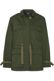 Thornwood grosgrain-trimmed cotton-twill jacket