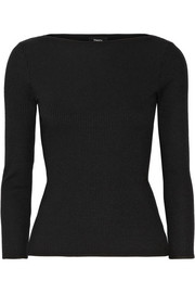 Theory Begiu ribbed stretch-knit top