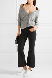Theory Saline B off-the-shoulder cashmere cardigan