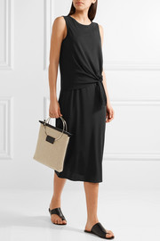 Theory Dorotea K tie-front cotton midi dress
